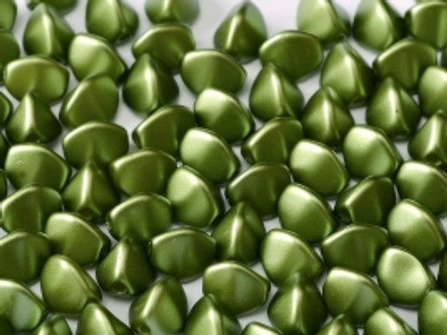 Pinch Beads, 5x3mm, Pastel Olivine (10 gr.)