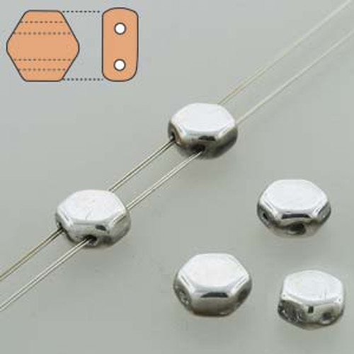 2-Hole Honeycomb Beads, Full Labrador (Qty: 30)