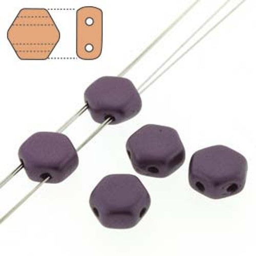 2-Hole Honeycomb Beads, Pastel Bordeaux (Qty: 30)