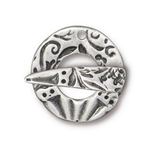 TierraCast Pewter Flora Toggle Clasp (Qty: 1)