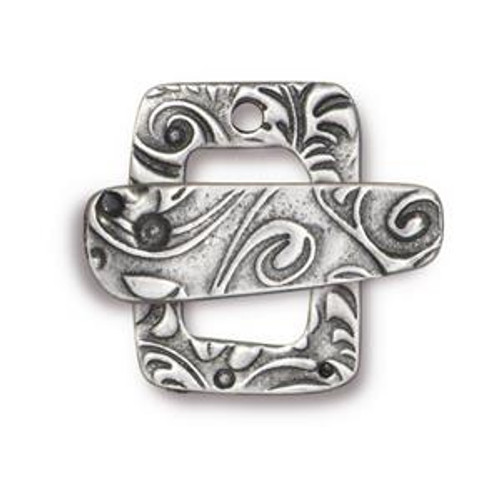 TierraCast Antique Pewter Jardin Toggle Clasp (Qty: 1)