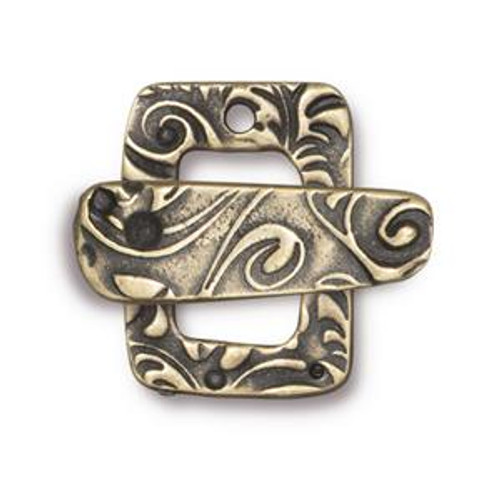 TierraCast Bronze Plated Jardin Toggle Clasp (Qty: 1)
