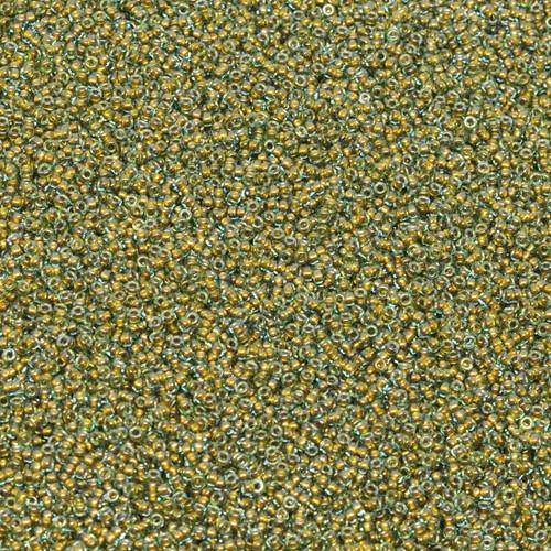 15-0375A, Aqua Color-Lined Gold (14 gr.)