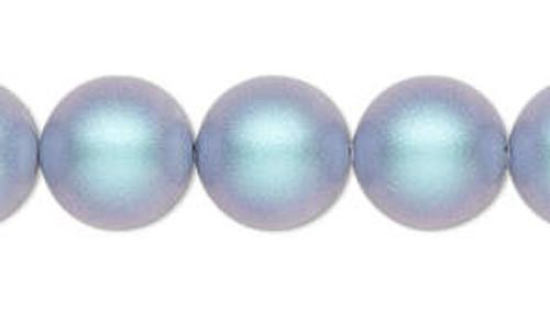 4mm Swarovski Pearls, Iridescent Light Blue (Qty: 50)