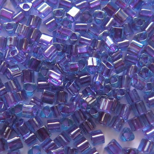 8-TRI-0252, Inside Color Aqua/Purple Lined Triangles (28 gr.)