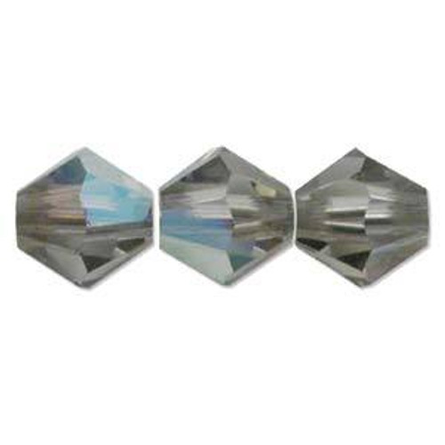 4mm Swarovski Bicones, Black Diamond (Qty: 50)