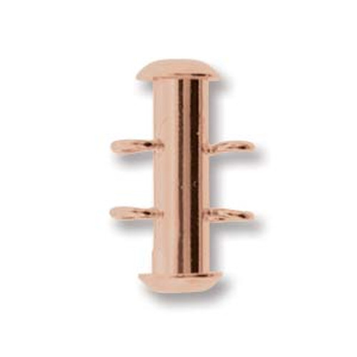 2 Strand Copper Plated Slide Clasp with Vertical Loops