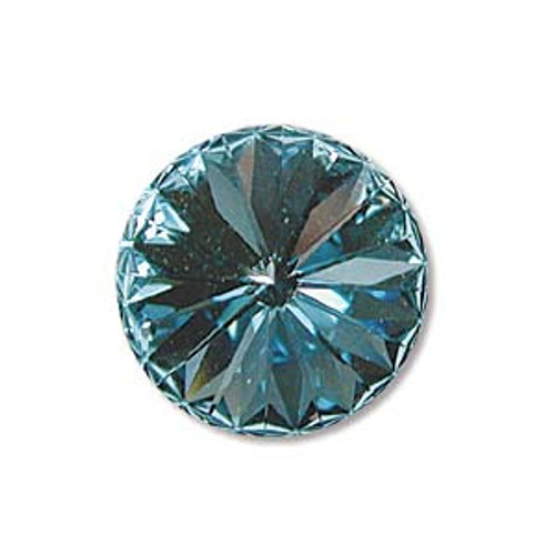 12mm Swarovski Rivoli, Aquamarine (Qty: 1)