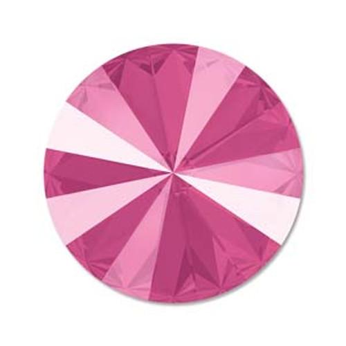12mm Swarovski Rivoli, Peony Pink (Qty: 1)
