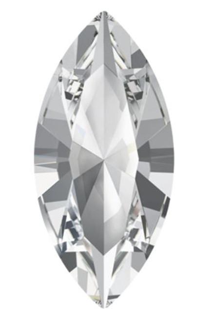 15 x 7mm Swarovski Navette, Crystal (Qty: 1)