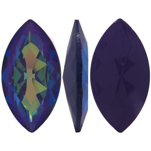 32 x 17mm Swarovski Navette, Ultra Purple AB (Qty: 1)