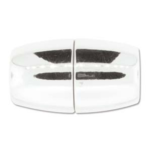 Acrylic Magnetic Clasp 41x24mm with 15.5mm ID - Shiny Chrome (Qty: 1)