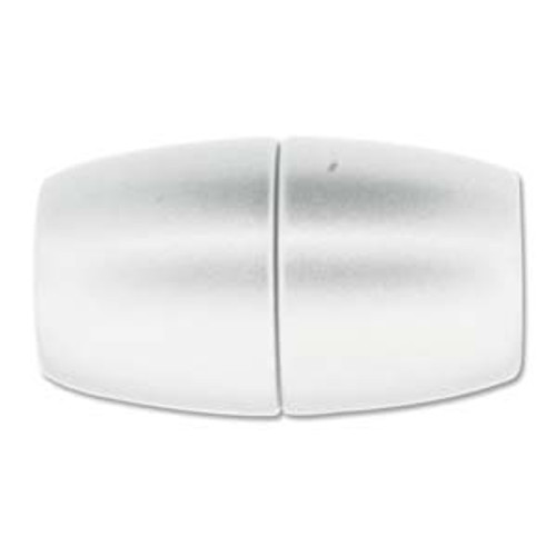 Acrylic Magnetic Clasp 41x24mm with 15.5mm ID - Matte Chrome (Qty: 1)