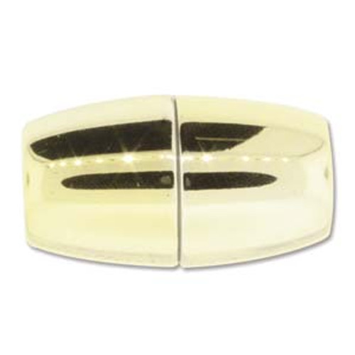 Acrylic Magnetic Clasp 38x20mm with 12.5mm ID, Shiny Gold
