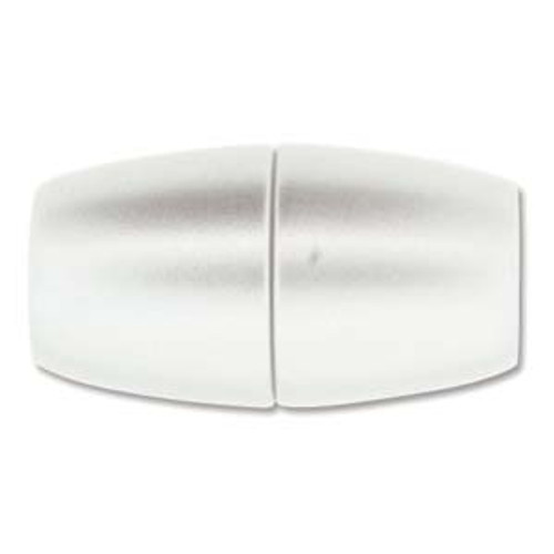 Acrylic Magnetic Clasp 31x17mm with 10.75mm ID - Matte Chrome