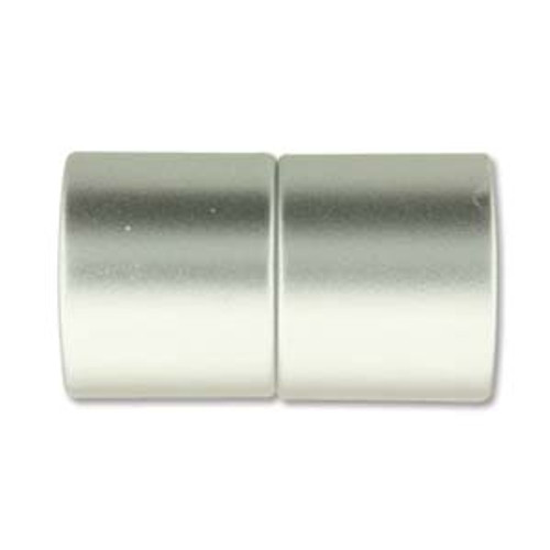 Acrylic Magnetic Clasp 26x15mm with 12mm ID - Matte Chrome (Qty: 1)