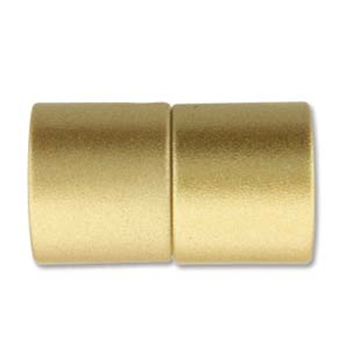 Acrylic Magnetic Clasp 26x15mm with 12mm ID - Matte Gold