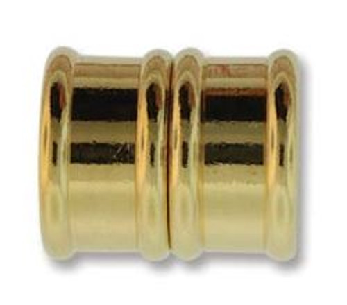 Magnetic Bamboo Clasp with 15mm ID - Gold Plated (Qty: 1)