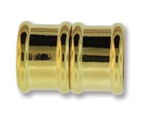 Magnetic Bamboo Clasp with 12mm ID - Gold Plated