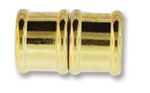 Magnetic Bamboo Clasp with 10mm ID - Gold Plated