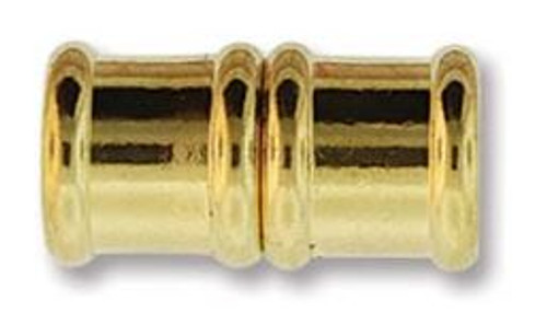 Magnetic Bamboo Clasp with 8mm ID - Gold Plated (Qty: 1)