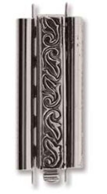 Elegant Elements BeadSlide Clasp, Swirl, Antique Silver, 29mm (Qty: 1)
