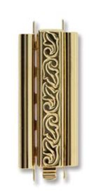 Elegant Elements BeadSlide Clasp, Swirl, Gold Plated, 29mm (Qty: 1)