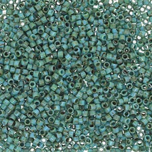 Size 11, DB-2264, Turquoise Picasso (10 gr.)