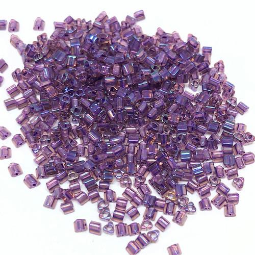 11-TRI-0928, Rainbow Rosaline/Opaque Purple-Lined (28 gr.)