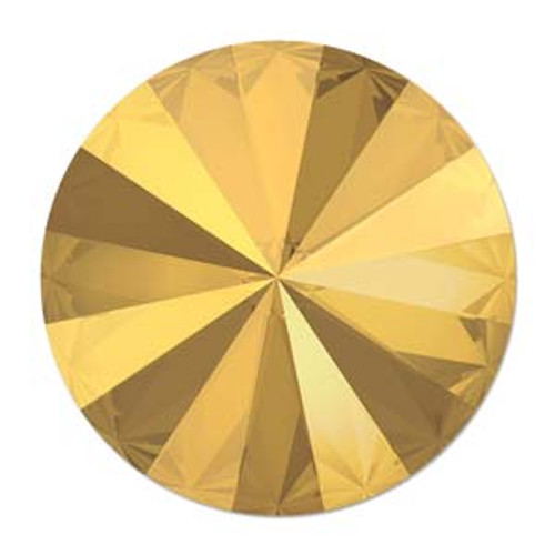 14mm Swarovski Rivoli, Crystal Metallic Sunshine (Qty: 1)