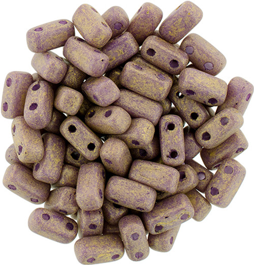 2-Hole Brick Beads, Pacifica Fig (Qty: 25)