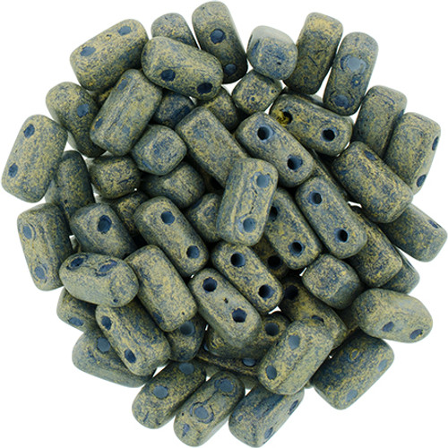 2-Hole Brick Beads, Pacifica Poppy Seed (Qty: 25)