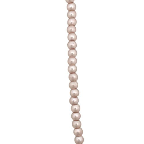 2mm Czech Glass Pearls, Peach Grey (Qty: 50)