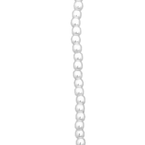 3mm Czech Glass Pearls, White (Qty: 50)