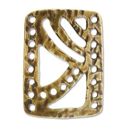 Bracelet Connector, Antique Brass - 15x21mm (Qty: 1) (BC-13)