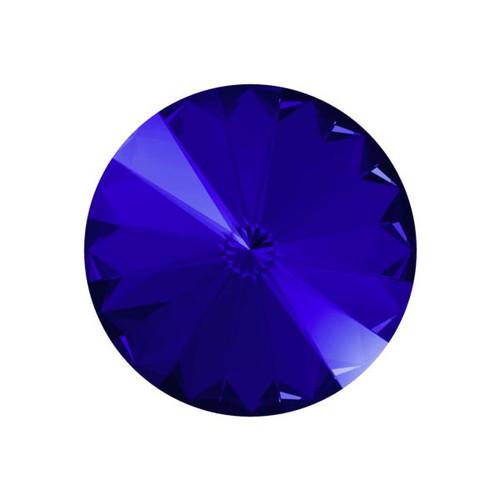 12mm Swarovski Rivoli, Majestic Blue (Qty: 1)