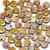 1-Hole Lentil, Etched Crystal Full Marea (Qty: 50)