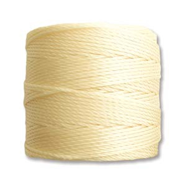 S-Lon Bead Cord, Pale Yellow (TEX 210, Medium Weight) (77 yd)