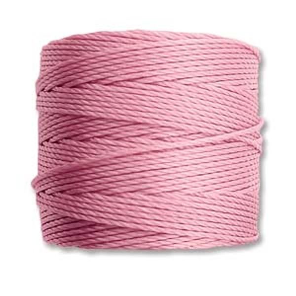 S-Lon Bead Cord, Rose (TEX 210, Medium Weight) (77 yd)
