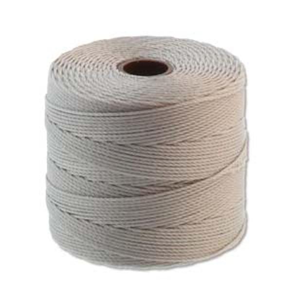 S-Lon Bead Cord, Silver  (TEX 135, Fine Weight) (118 yd)