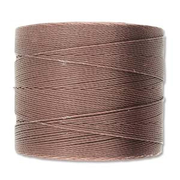 S-Lon Bead Cord, Brown  (TEX 70, Micro Weight) (262 yd)