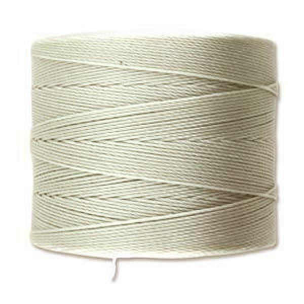S-Lon Bead Cord, Light Grey (TEX 70, Micro Weight) (262 yd)