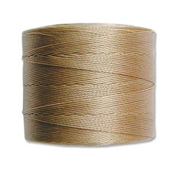 S-Lon Bead Cord, Sand  (TEX 70, Micro Weight) (262 yd)