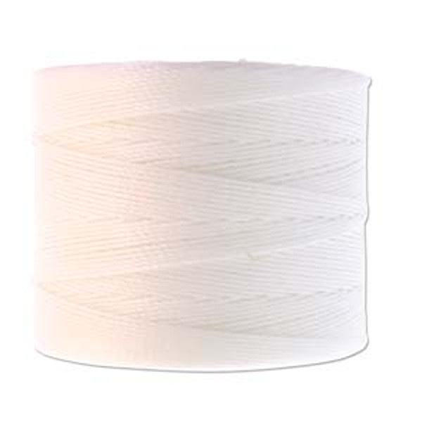 S-Lon Bead Cord, White  (TEX 70, Micro Weight) (262 yd)