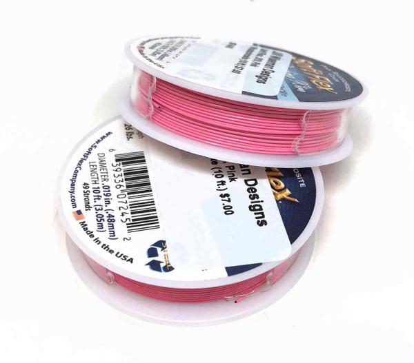 Soft Flex, Pink Rhodochrosite, 019 diameter (Medium weight) (10 ft.)
