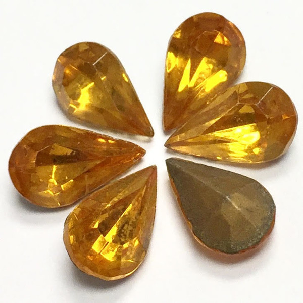 Topaz Pear Shaped Stones, 10 x 6mm (Qty: 6)