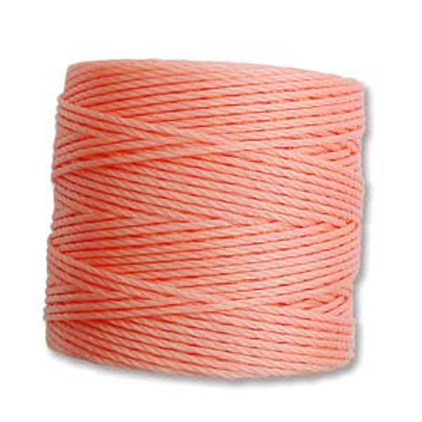 S-Lon Bead Cord, Coral Pink (TEX 210, Medium Weight) (77 yd)