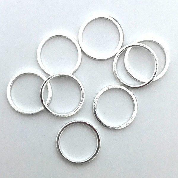 Quick Links, Round, 12mm, Silver Plated (Qty: 8)