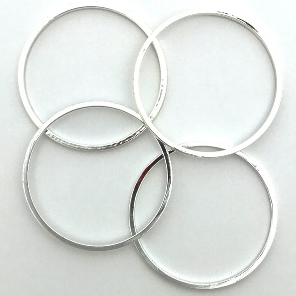 Quick Links, Round, 25mm, Silver Plated (Qty: 4)