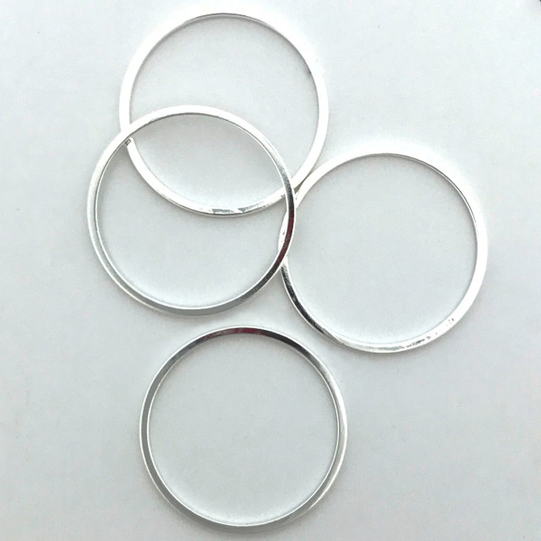 Quick Links, Round, 20mm, Silver Plated (Qty: 4)